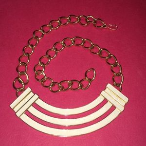Monet off-white and gold necklace